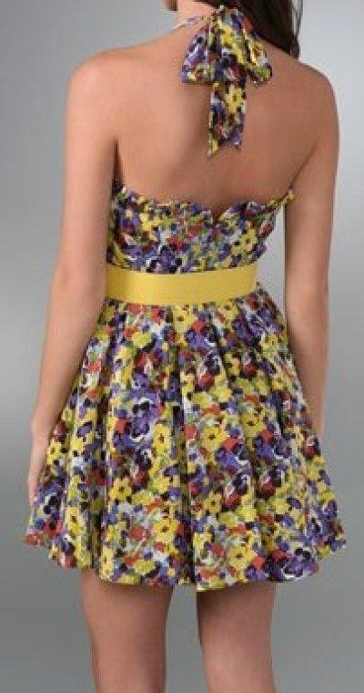 画像2: 【レイトン・ミースター着用】Alice + Olivia Terry Halter Dress