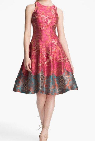 画像1: 【ミシェル・オバマ大統領夫人ご愛用】Tracy Reese   'Michelle' Jacquard Fit & Flare Dress