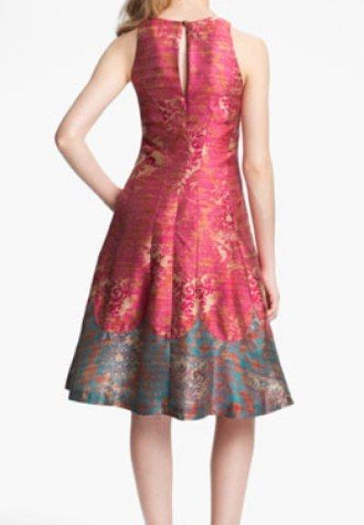 画像2: 【ミシェル・オバマ大統領夫人ご愛用】Tracy Reese   'Michelle' Jacquard Fit & Flare Dress