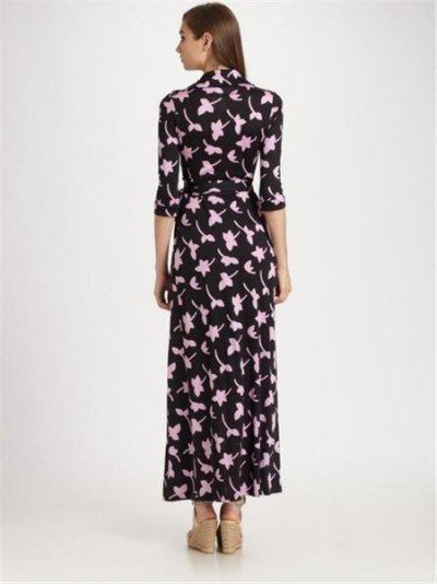 画像1: 【ミランダ・カー愛用】Diane Von Furstenberg  ABIGAIL Wrap Maxi Dress