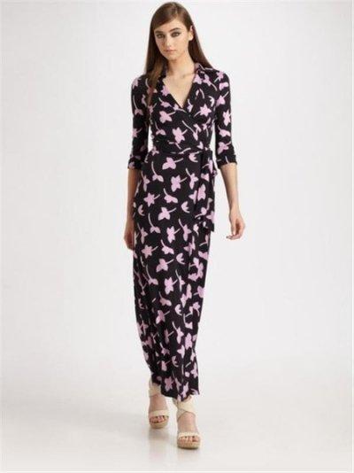 画像2: 【ミランダ・カー愛用】Diane Von Furstenberg  ABIGAIL Wrap Maxi Dress