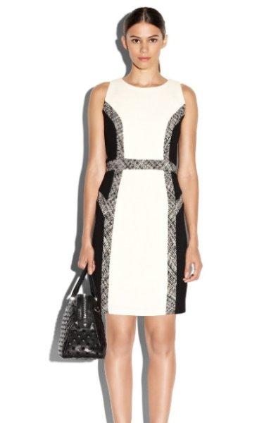画像1: 【BONES使用、アンジェラ着用】Milly     Tweed Inset Wool Sheath Dress (1)