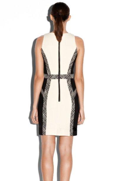 画像1: 【BONES使用、アンジェラ着用】Milly     Tweed Inset Wool Sheath Dress