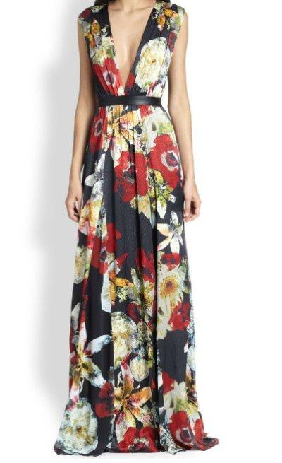 画像1: 再販売!【リベンジ使用、エミリー着用】Alice+Olivia    Triss Floral Maxi Dress