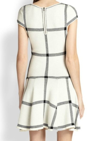 画像1: ドラマ【プリティ・リトル・ライヤーズ使用】Alice + Olivia  Selma Checkered Drop-Waist Dress
