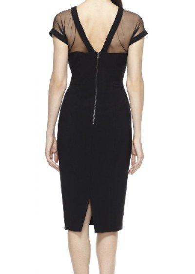 画像2: 【セレブ多数愛用、ドラマ使用】Maggy London  Illusion Dress ブラック