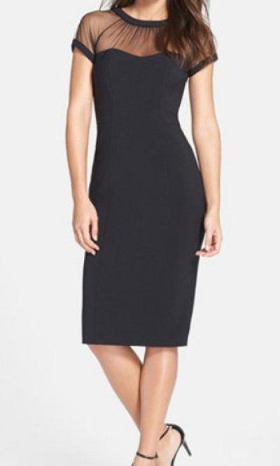 画像1: 【セレブ多数愛用、ドラマ使用】Maggy London  Illusion Dress ブラック
