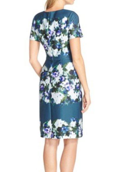画像1: ドラマ【BONES】使用!Adrianna Papell   Print Scuba Sheath Dress