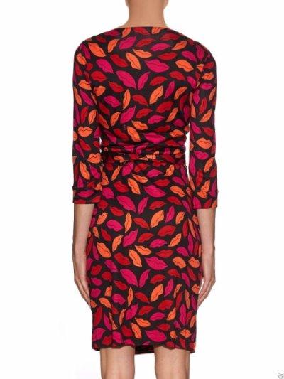 画像2: 【ドラマ使用】Diane von Furstenberg   New Julian Two Silk Jersey Wrap Dress MIDNIGHT KISS