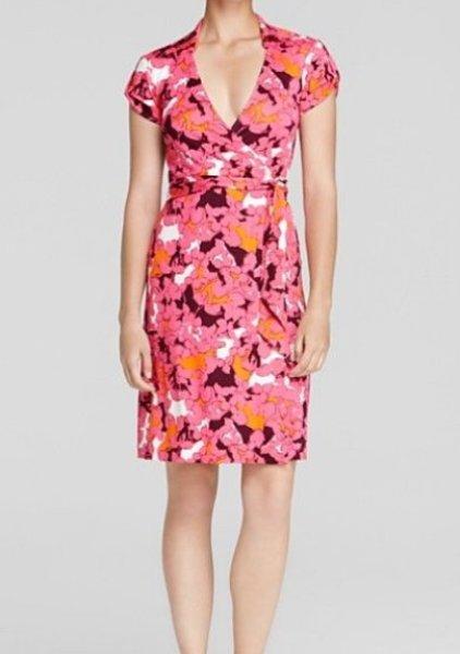 画像1: 【ヴァンサンカン掲載】Diane von Furstenberg  Jilda Two Dress  Eden Garden Pink Floral (1)