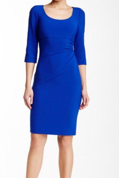 画像1: 【ドラマ使用】Diane von Furstenberg ダイアンフォンファステンバーグLillian Dress コバルト (1)