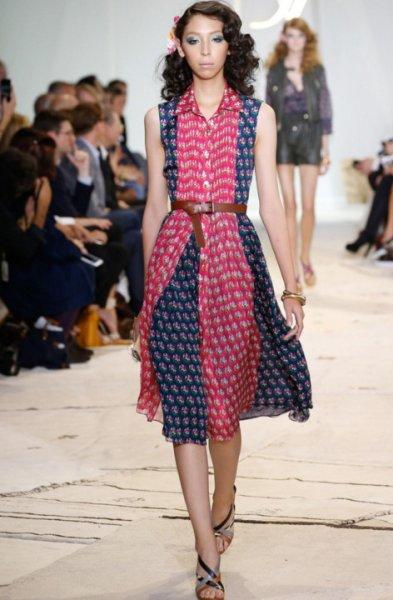 画像1: 【Jessica Joffe愛用】Diane von Furstenberg ダイアンフォンファステンバーグ Nieves Printed Silk Shirtdress (1)