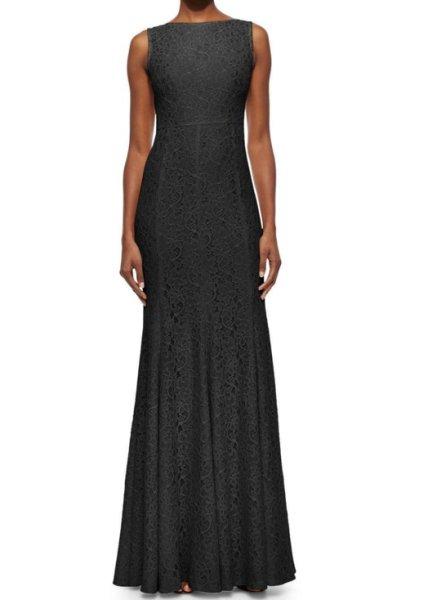 画像1: Diane von Furstenberg ダイアンフォンファステンバーグ Evangelina Lace Gown ブラック  (1)