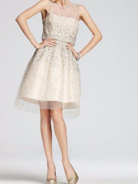 画像1: 【Zooey Deschanel愛用】alice + olivia アリスアンドオリビア Alyssa Embellished Sequin dress (1)