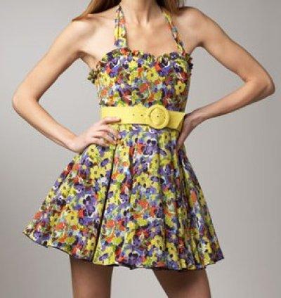 画像1: 【レイトン・ミースター着用】Alice + Olivia Terry Halter Dress