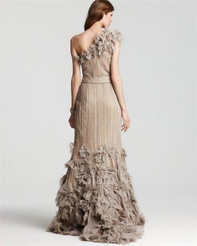 画像2: 連休中プライスダウン!再販売!【Julie Bowen愛用】Tadashi Shoji     One Shoulder Rosette Cascading dress  アンティーク