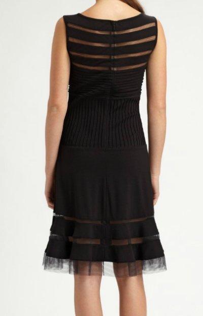 画像2: セール!【AKOさんご着用】Tadashi Shoji  タダシショージ  Flounce Skirt Dress ブラック