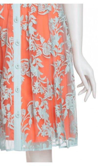 画像3: 【観月ありささんご着用、美人百花掲載】 Nanette Lepore    Varsity Lace Dress ラグーン