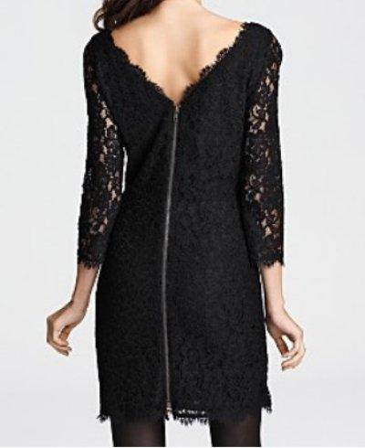 画像1: 【浅田真央さん、Laurie Holden愛用、ドラマ使用】Diane von Furstenberg  Zarita Lace Dress ブラック