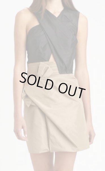 画像1:  【エマ・ワトソン愛用】3.1 Phillip Lim  Colorblock Taffeta Bow-Front Dress (1)