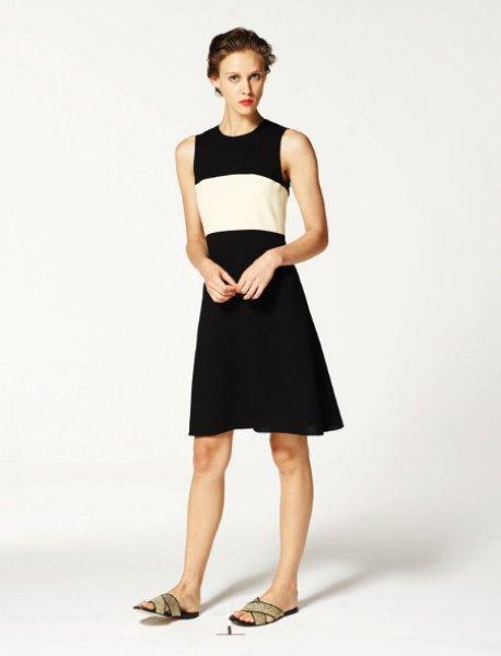 画像1: 【ヴァンサンカン掲載】L'AGENCE Aラインカラーブロックドレス (1)