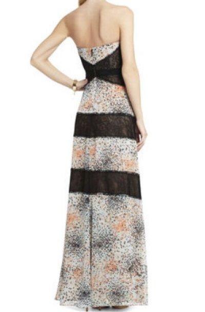 画像1: 【AneCan掲載】BCBGMAXAZRIA  Elle Print and Lace Blocked Halter Dress
