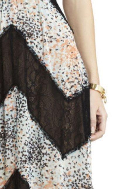 画像2: 【AneCan掲載】BCBGMAXAZRIA  Elle Print and Lace Blocked Halter Dress