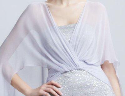 画像2: Badgley Mischka  Lace Cape Gown