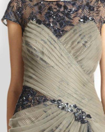 画像1: 【BAZAAR jewelry掲載】Tadashi Shoji タダシショージ Lace Illusion Gown