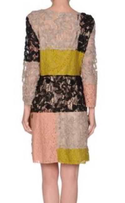 画像2: 【少女時代・スヨン着用】Moschino Cheap&Chic パッチワークレースドレス