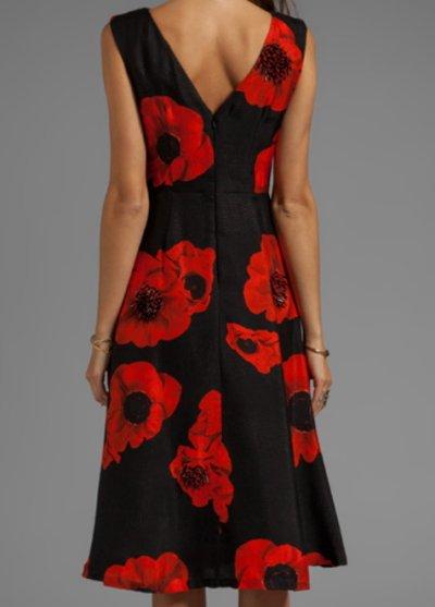 画像2: 【ミシェル・オバマ大統領夫人ご愛用】Tracy Reese   Scarlet Floral Embellished Flared Frock
