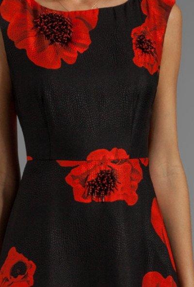 画像3: 【ミシェル・オバマ大統領夫人ご愛用】Tracy Reese   Scarlet Floral Embellished Flared Frock