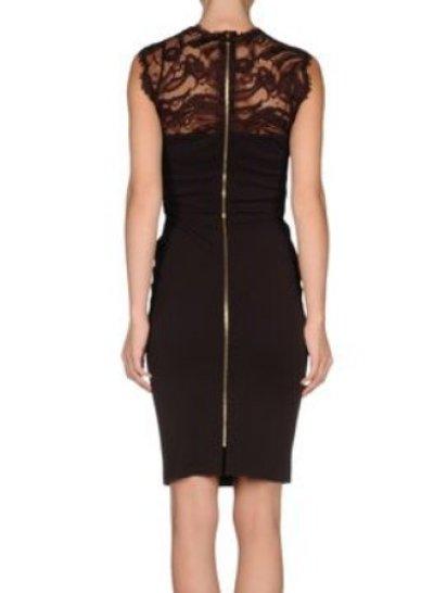画像1: 【ゴシップガール、ブレイクライブリー着用】EMILIO PUCCI   Bordeaux Embellished Lace Trim Dress