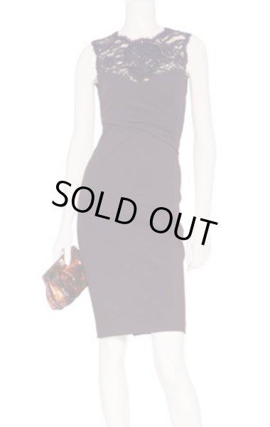 画像1: 【ゴシップガール、ブレイクライブリー着用】EMILIO PUCCI   Bordeaux Embellished Lace Trim Dress (1)