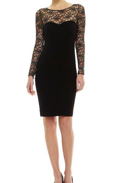 画像1: Jill by Jill Stuart     Illusion Neckline Dress (1)