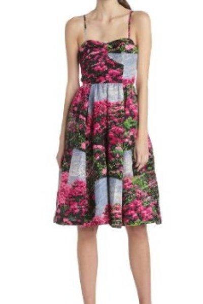 画像3: 【サラ・ジェシカ・パーカー愛用】Tracy Reese     Rhododendron Printed Strapless Dress