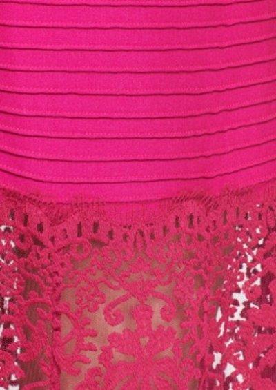 画像3: 【Alicia Quarles愛用】Tadashi Shoji   Pintuck Jersey and Lace Strapless Gown ピンク系