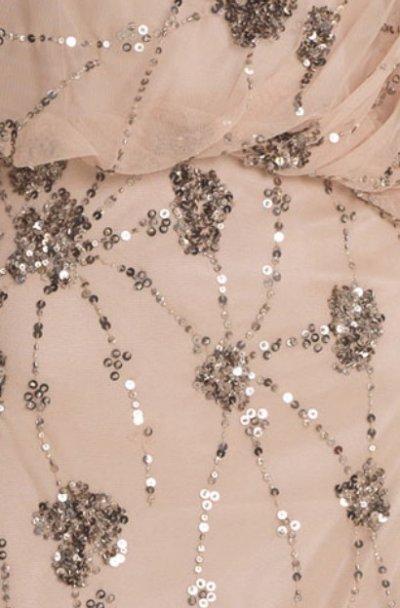 画像3: 【Ali Fedowtowsky愛用】Adrianna Papell アドリアナパペル  Beaded One-Shoulder Gown ヌード