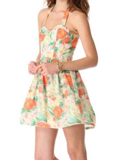 画像1: 【The Carrie Diaries、キャリー着用】Alice & Olivia  Fleur bustier dress