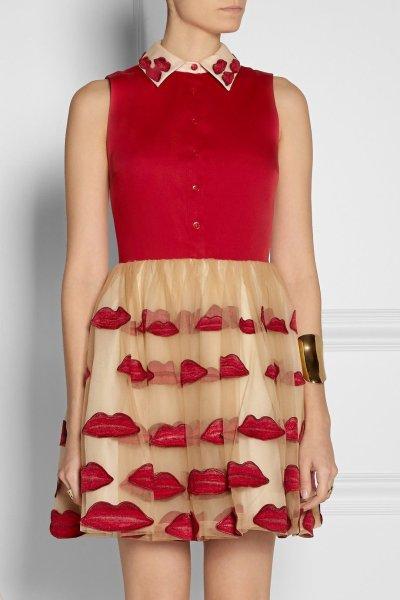 画像2: 【パリスヒルトン、大島優子さん着用】Alice+Olivia   Lip Pouf dress