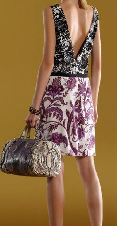 画像2: Gucci ミックスフローラルプリントVネックドレス