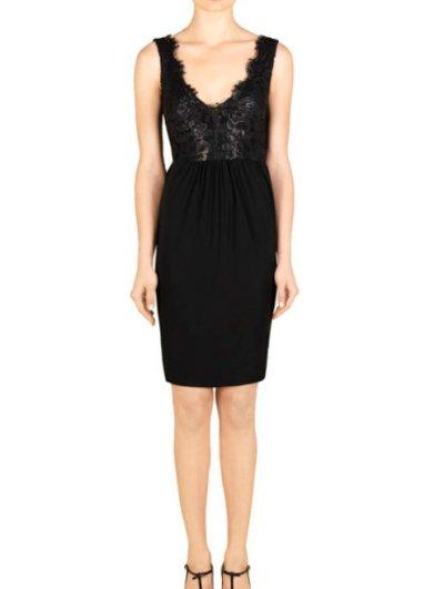 画像1: GUCCI レーストップブラックドレス