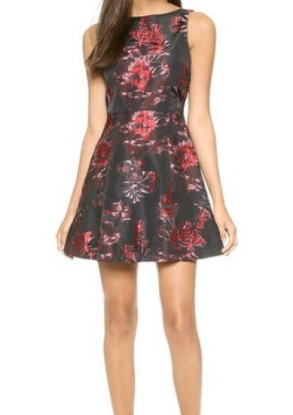 画像1: 【Bella Thorne愛用】Alice + Olivia アリスアンドオリビア Jorah box pleat floral dress (1)