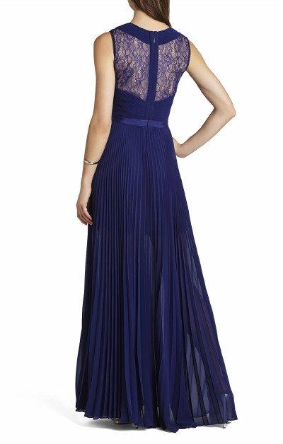 画像1: 【中村アンさんご着用】BCBGMAXAZRIA   Caia Chiffon Pleated Evening Gown ブルー