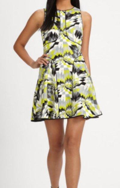 画像1: 【パリスヒルトン愛用】Tibi   Isosceles Sleeveless Dress ライム