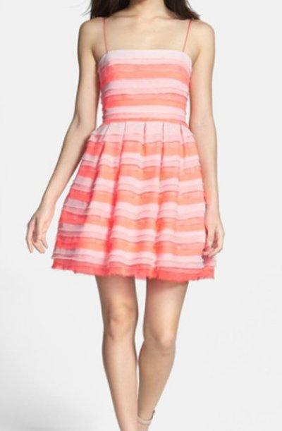 画像1: 【ドラマ使用】ERIN erin fetherston  Azalea Tiered Chiffon Dress