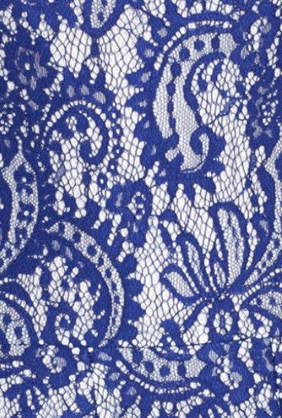 画像3: 【上戸彩さん着用、Lilla Crawford 愛用】Tadashi Shoji     Bonded Lace Fit & Flare Dressブルー系