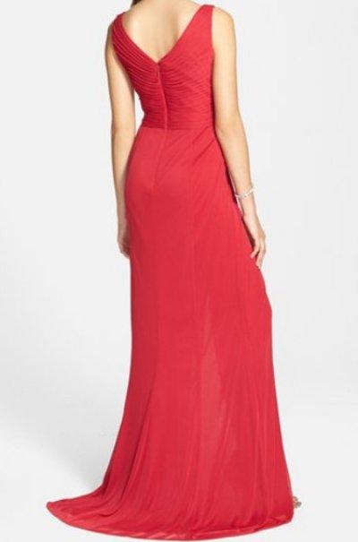 画像1: Adrianna Papell   Sequin Tulle Faux Wrap Gown