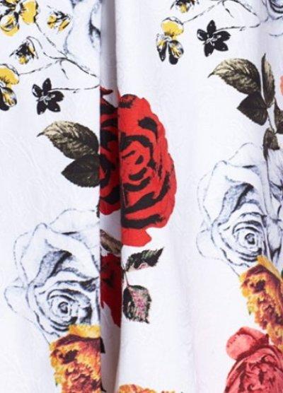 画像2: Adrianna Papell 花柄ジャガードフィット&フレアドレス