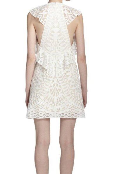 画像2: 【MARIAさん着用、アネキャン掲載】BCBGMAXAZRIA   Printed Ruffle-Detail Dress